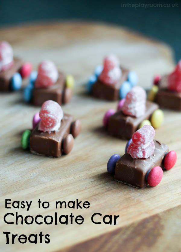these chocolate car treats are so easy to make, no bake just put them together from sweets. Fun for children to make