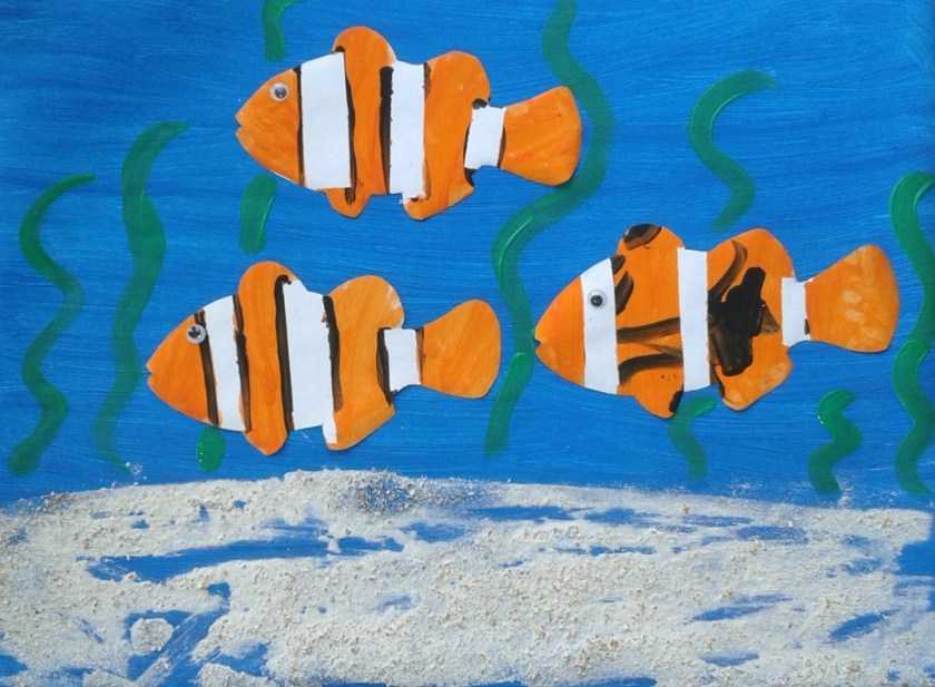 clownfish painting for kids
