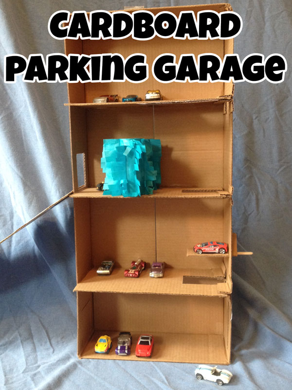 How To Make A Cardboard Parking Garage In The Playroom