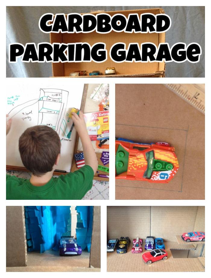 Cardboard parking garage