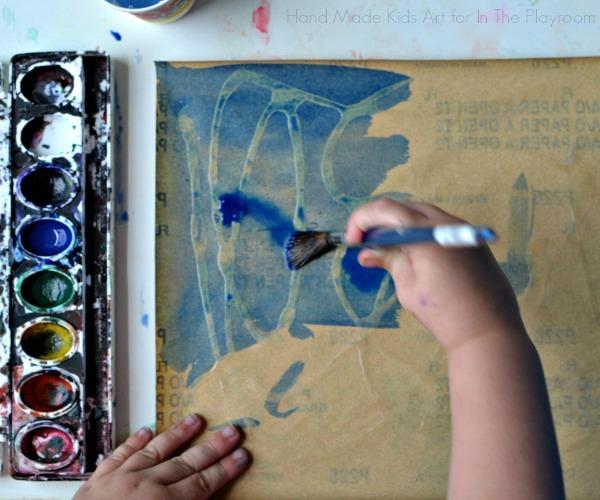 watercolor resist painting on sandpaper
