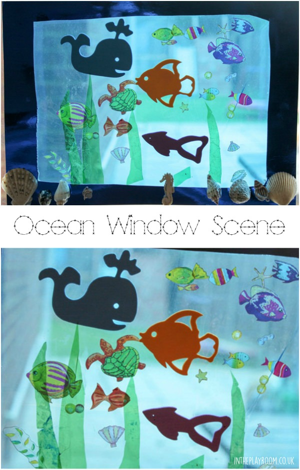 Ocean window scene craft for kids underwater theme