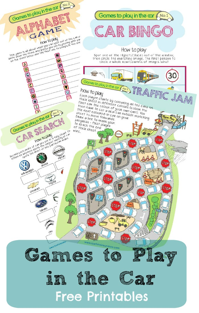 picture about Travel Bingo Printable named Maintaining Youngsters Entertained inside the Car or truck : Drive Printables for