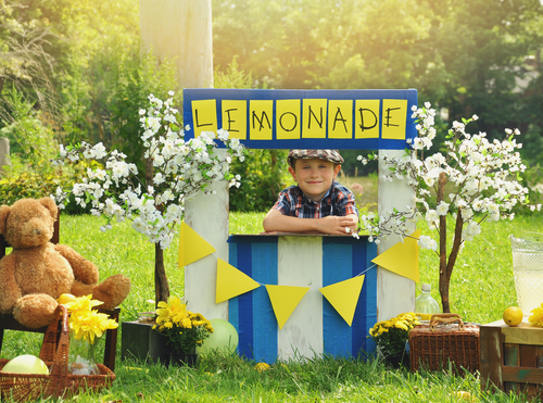 lemonade stand for teaching kids about money