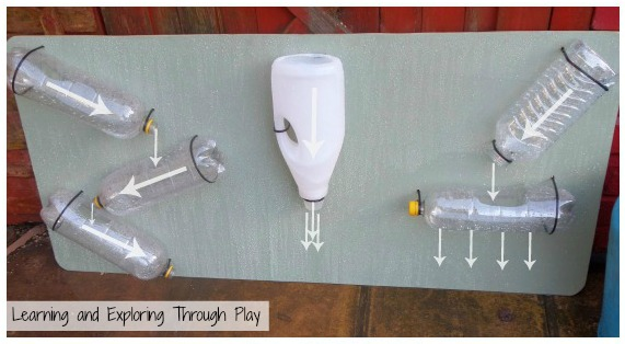 make an outdoor water wall summer fun activity for water play