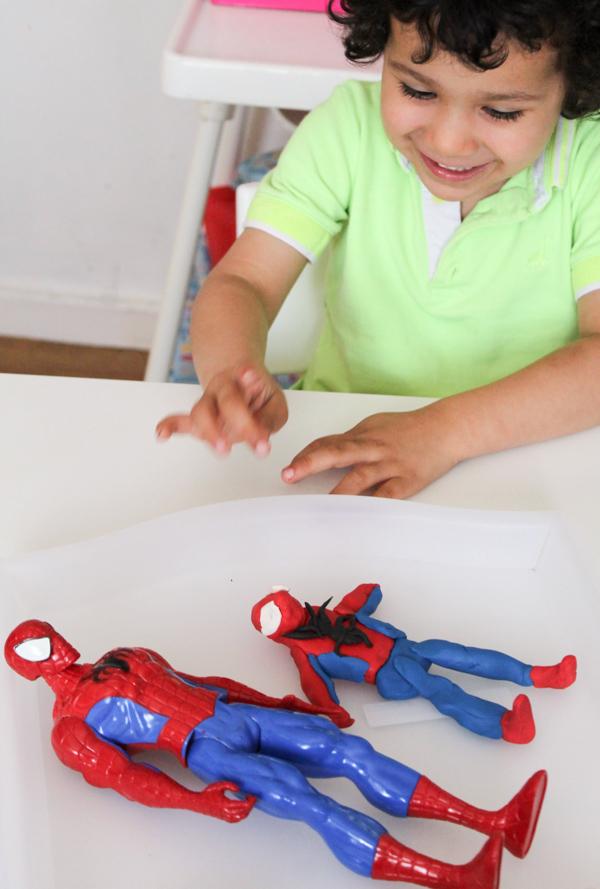 plasticine modelling spiderman