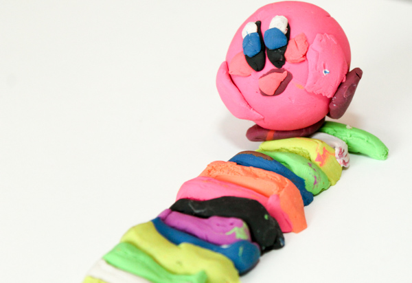 Kirby and the rainbow paintbrush clay models