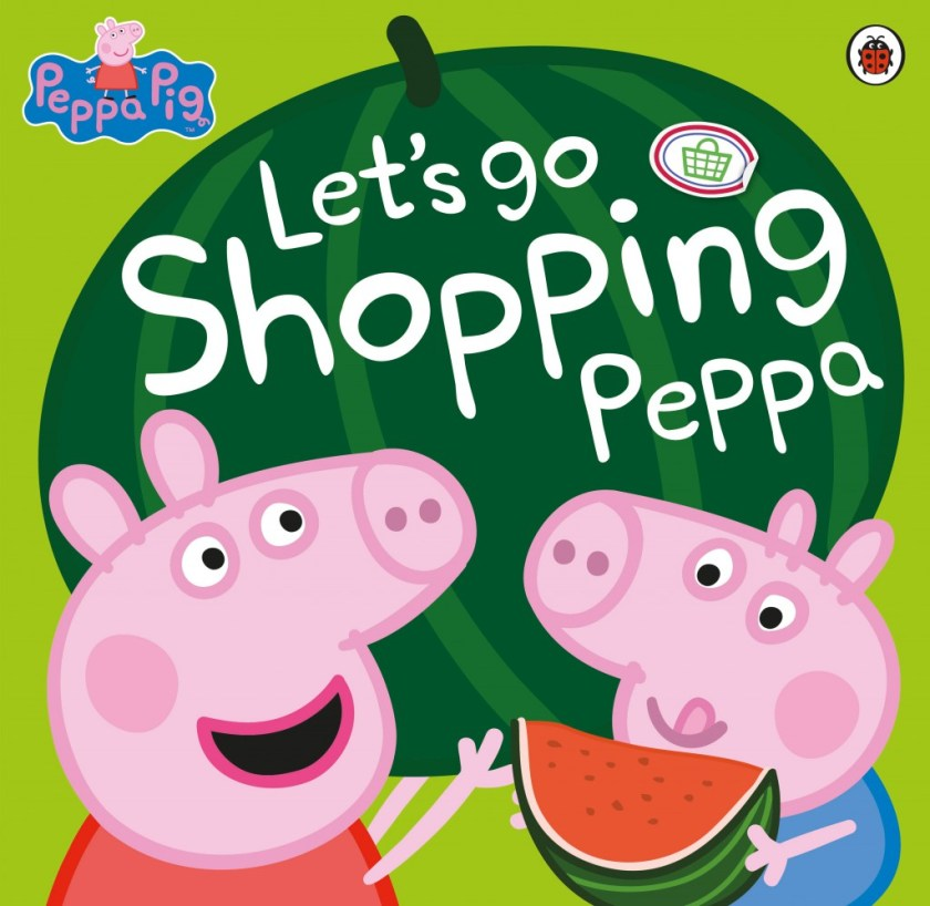 Let's go shopping Peppa Pig book