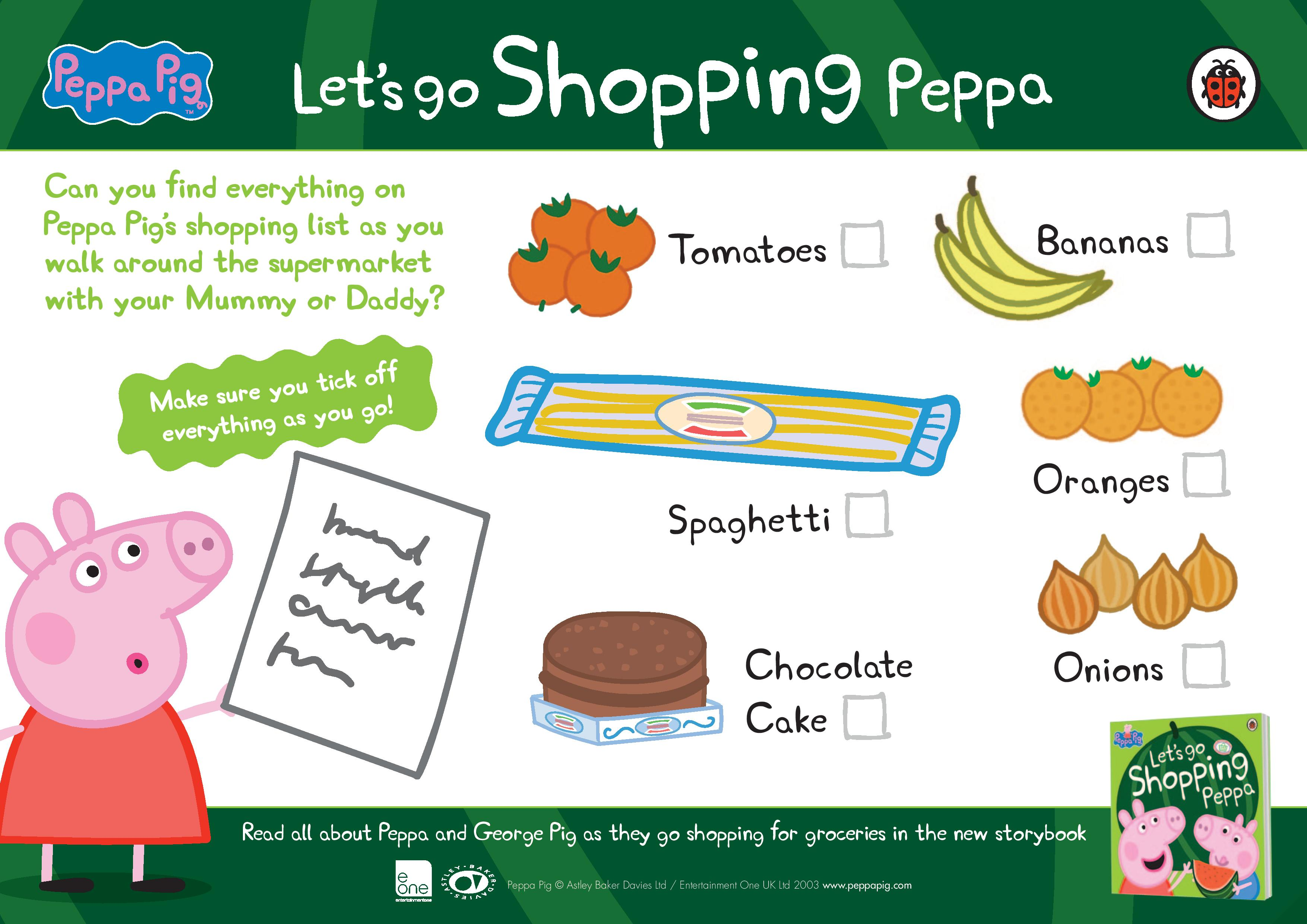 Peppa Pig Let S Go Shopping Peppa