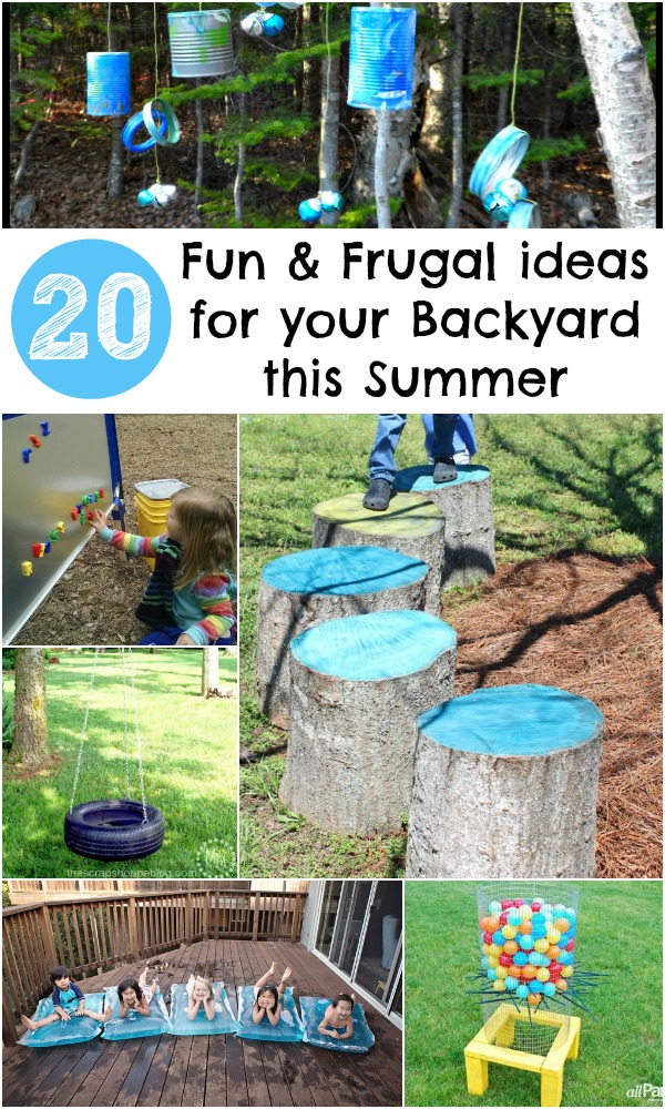 20 Fun and Frugal ideas for your Backyard this Summer - In ... on Cool Backyard Decorations id=35105