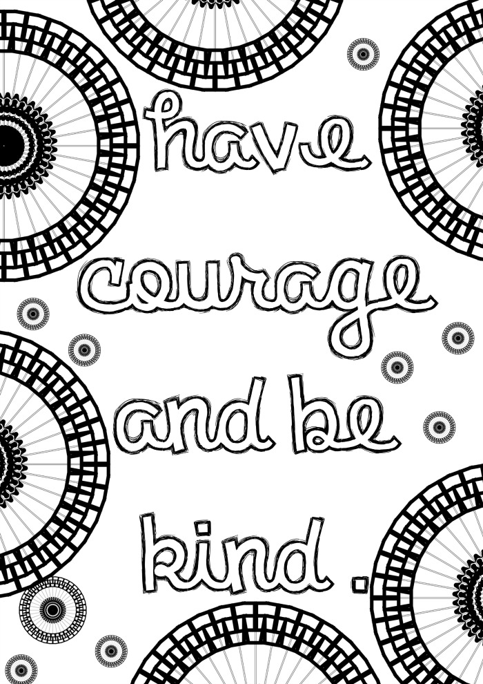 graphic about Have Courage and Be Kind Printable named Cinderella Impressed Developed Up Colouring Webpages: Incorporate Braveness