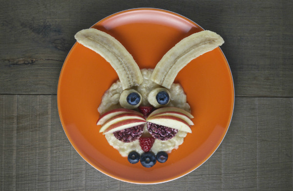 finished rabbit snack healthy food idea for kids