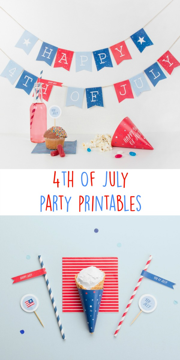 Fourth of july printables. These free printables have everything that you need for your 4th July party - bunting, flags, cupcake toppers and more