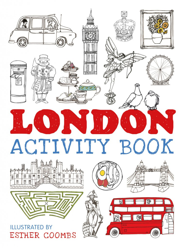 The London Activity Book with London themed colouring, drawing prompts, puzzles and more. Download sample printables free in this blog post