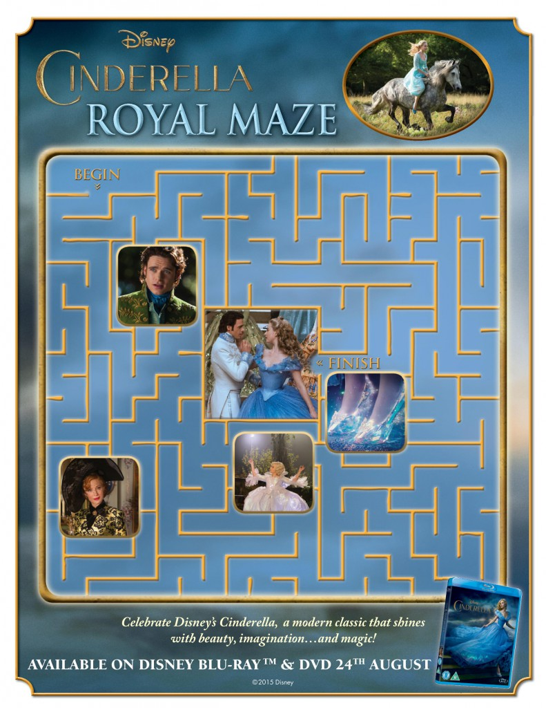 Cinderella Maze printable activity sheet