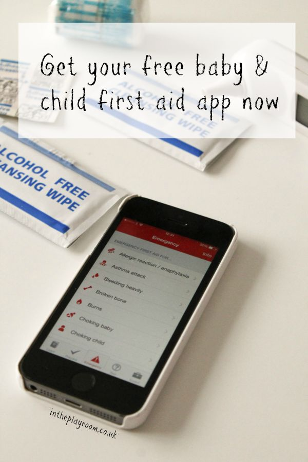 Get your free baby and child first aid app from British Red Cross