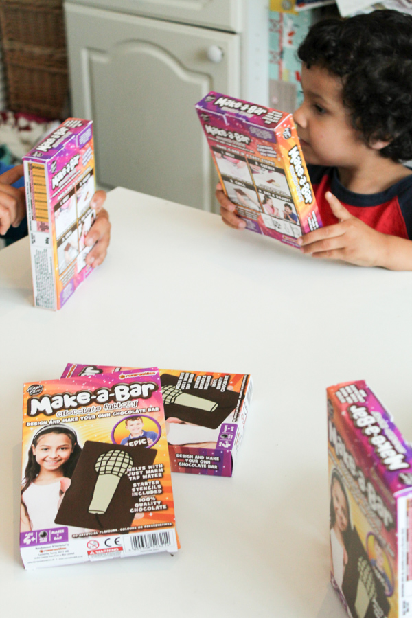 make a bar chocolate factory kit for kids