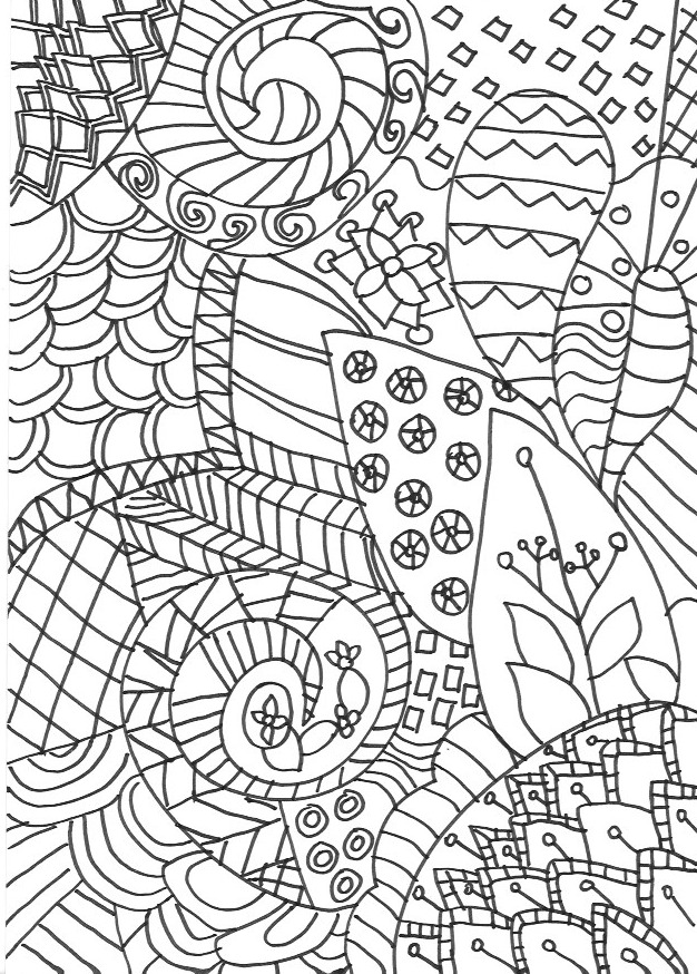 - Zentangle Colouring Pages - In The Playroom