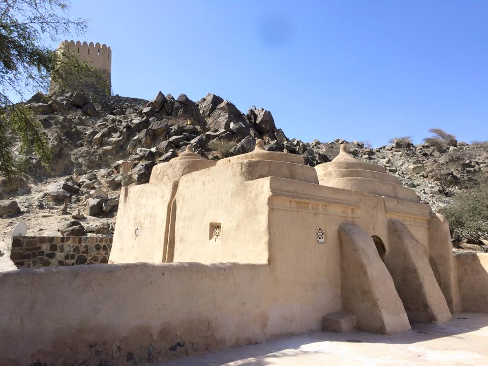 al bidya mosque in fujairah. The oldest mosque in UAE