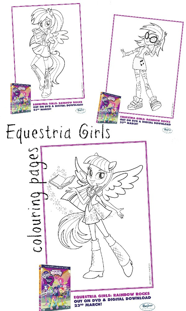 It's just an image of Fabulous Equestria Girls Coloring Book