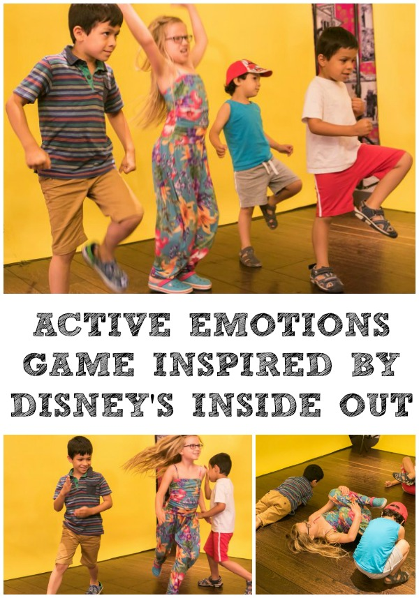 Disney Inside Out Inspired active emotions game for kids