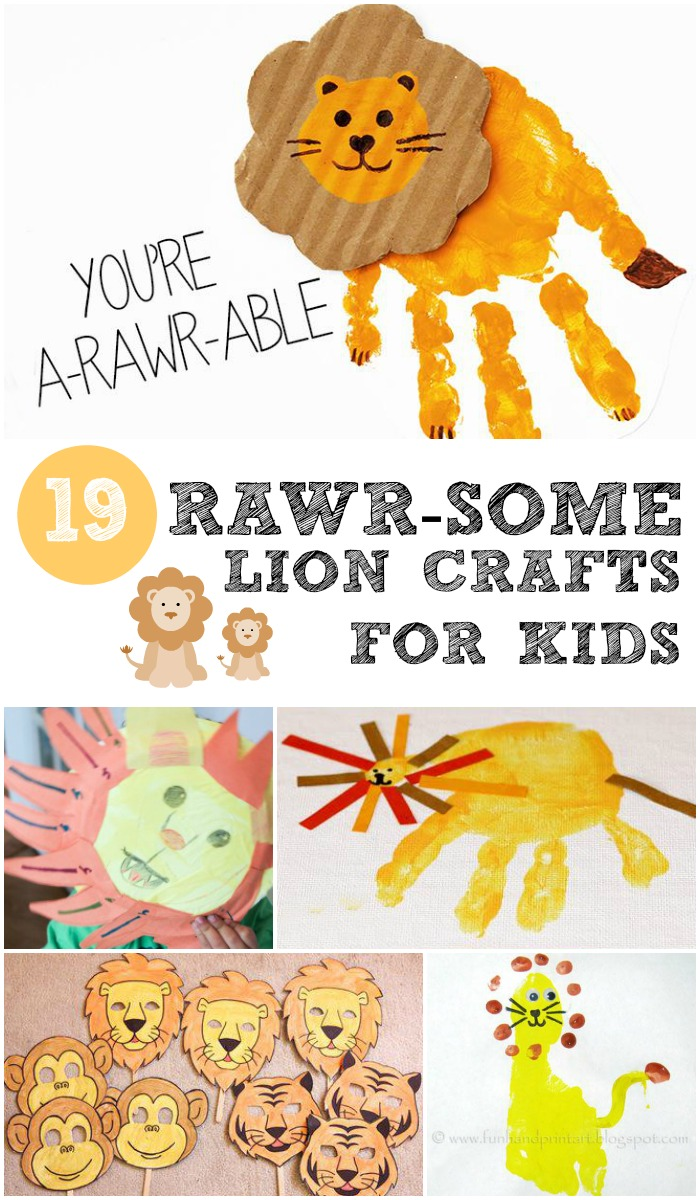 19 rawr-some lion crafts for kids