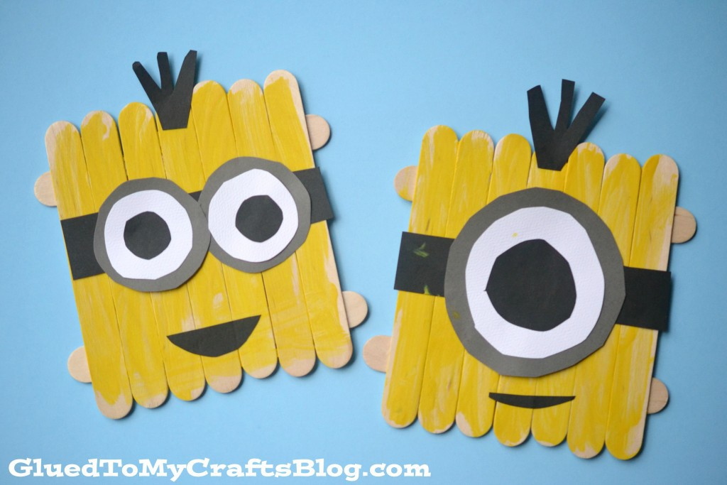 craft stick minions