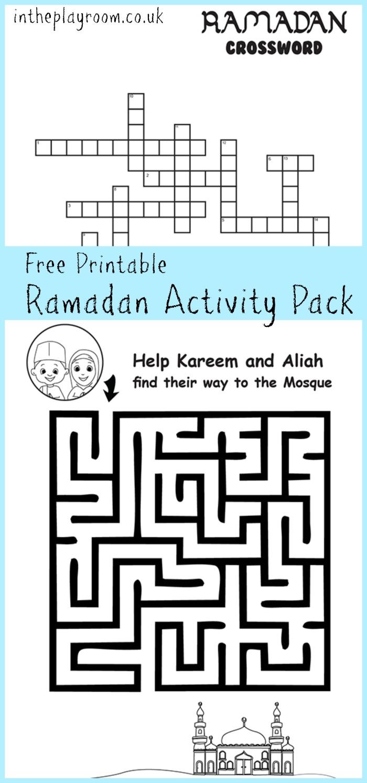 Ramadan Maze And Crossword Printable Activities