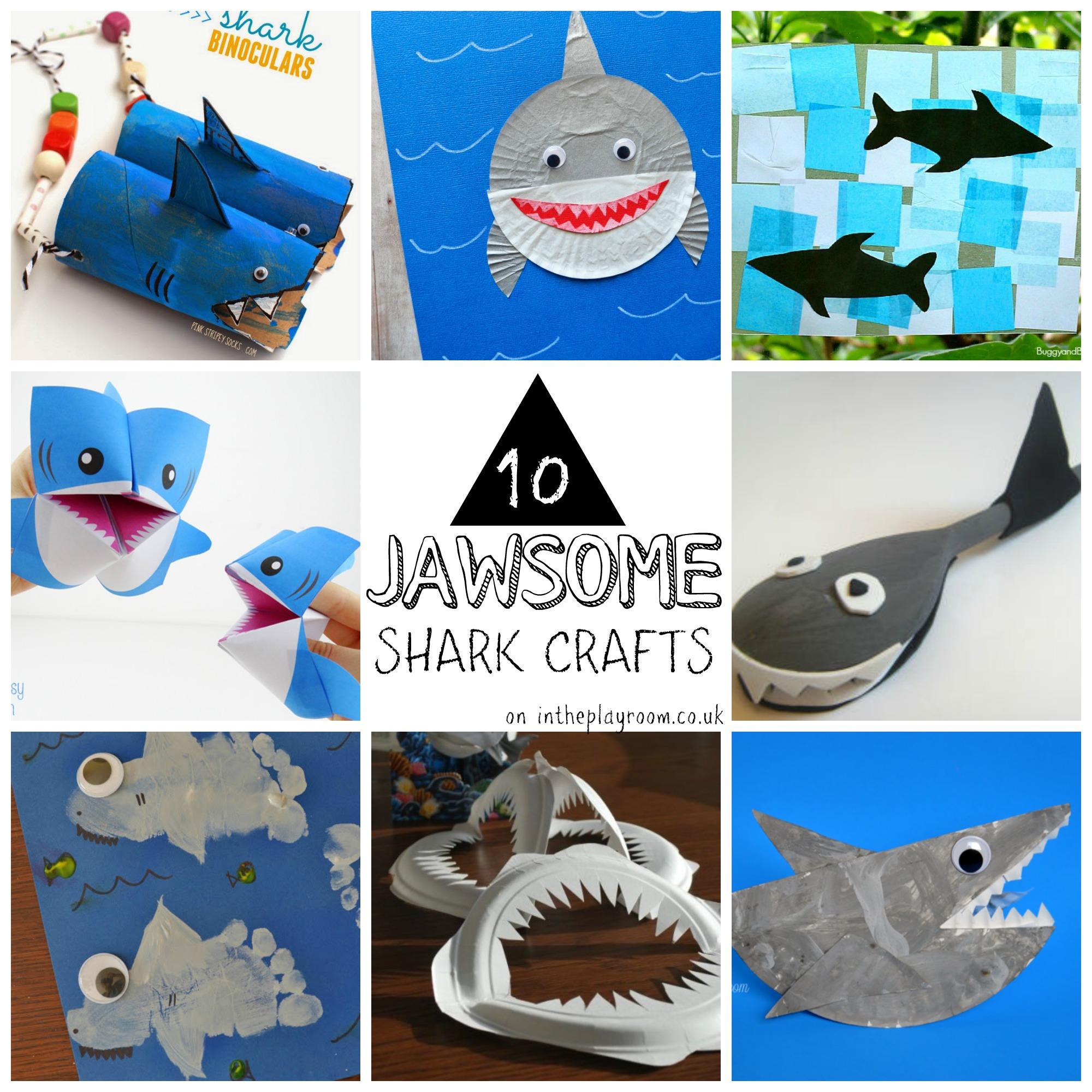 10 Jawsome Shark Crafts For Kids
