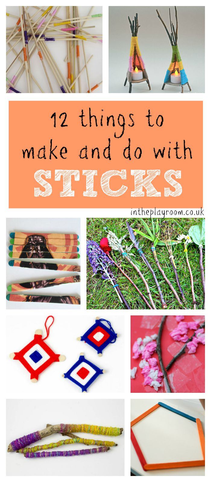 12 Fun Things To Make And Do With Sticks In The Playroom