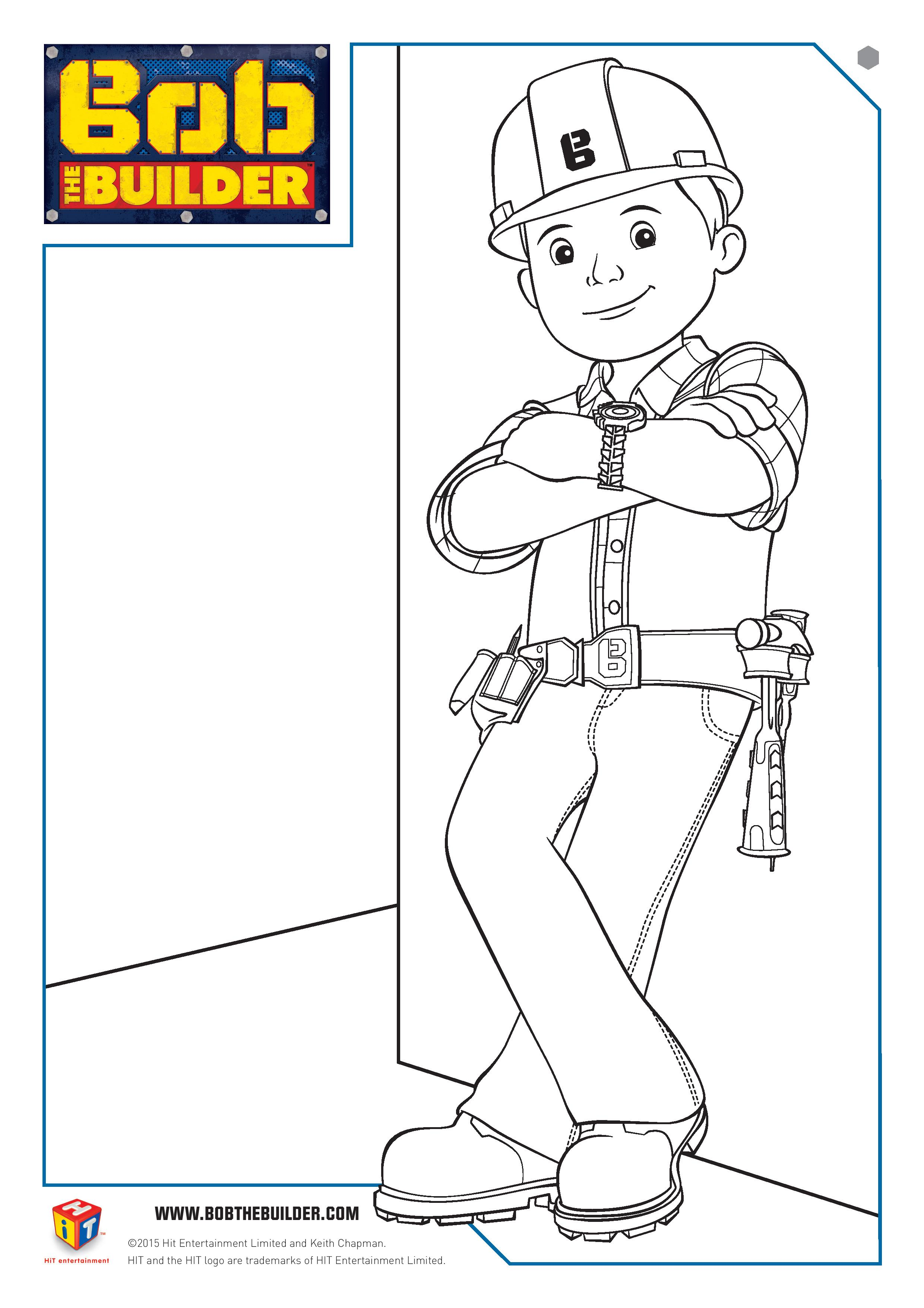 Bob The Builder Twitter Party And Colouring Page