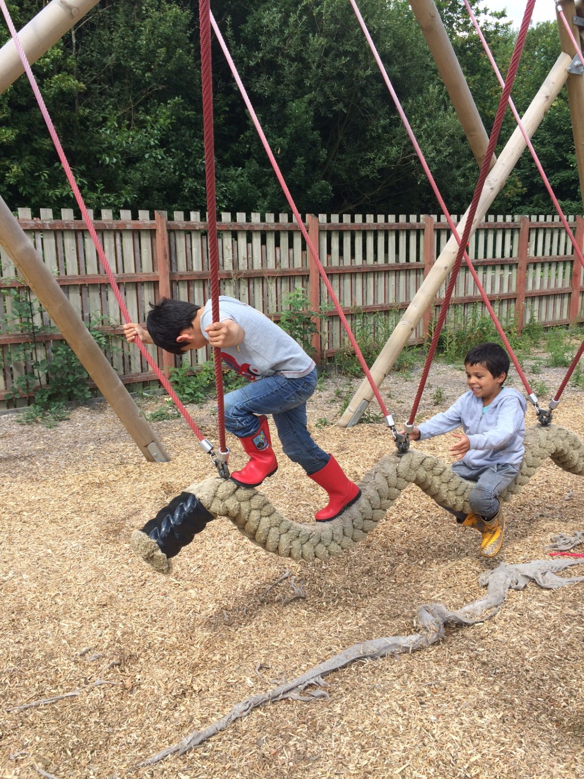 outdoor playground at conkers