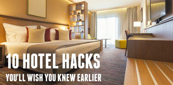 hotel room life hacks