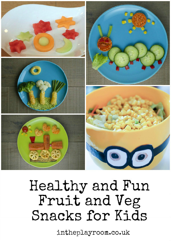 cute and fun healthy snacks for kids. Try these to help them eat their veggies!