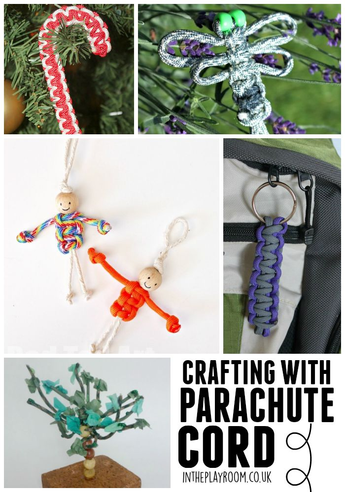 crafting with parachute cord aka paracord. More than just bracelets