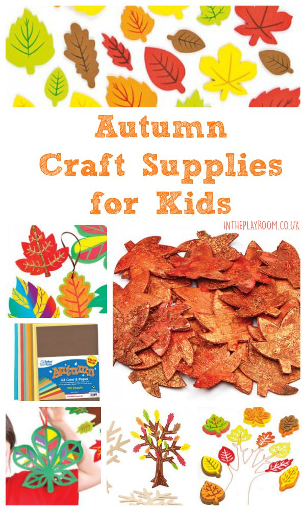 Autumn and fall CRAFT supplies for kids