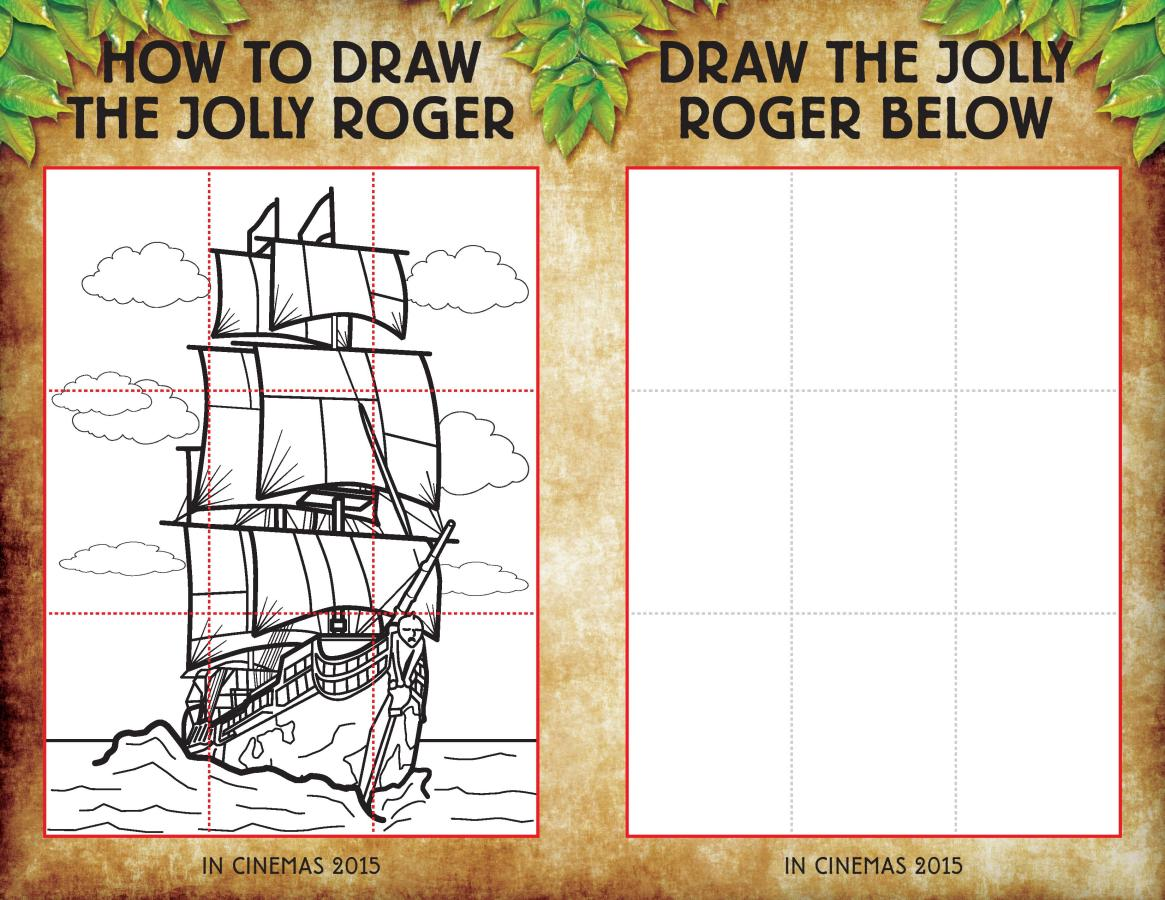 How to draw the jolly roger free printable