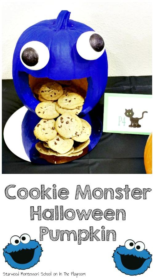 Cookie Monster Pumpkin In The Playroom