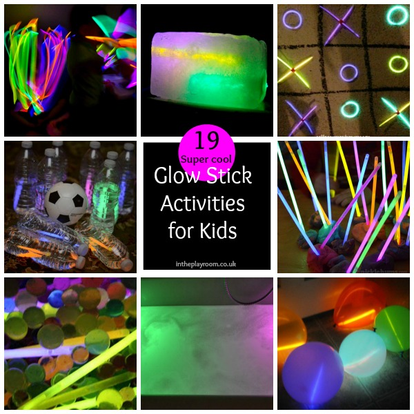 19 super cool glow stick activities for kids.