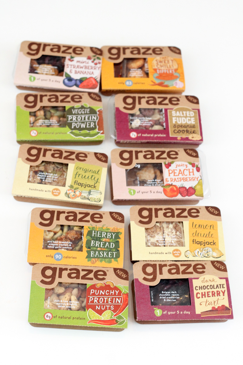 Graze retail packs in shops