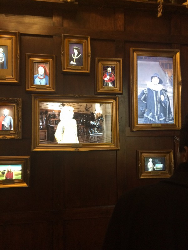 talking portrait wall time tour at warwick castle
