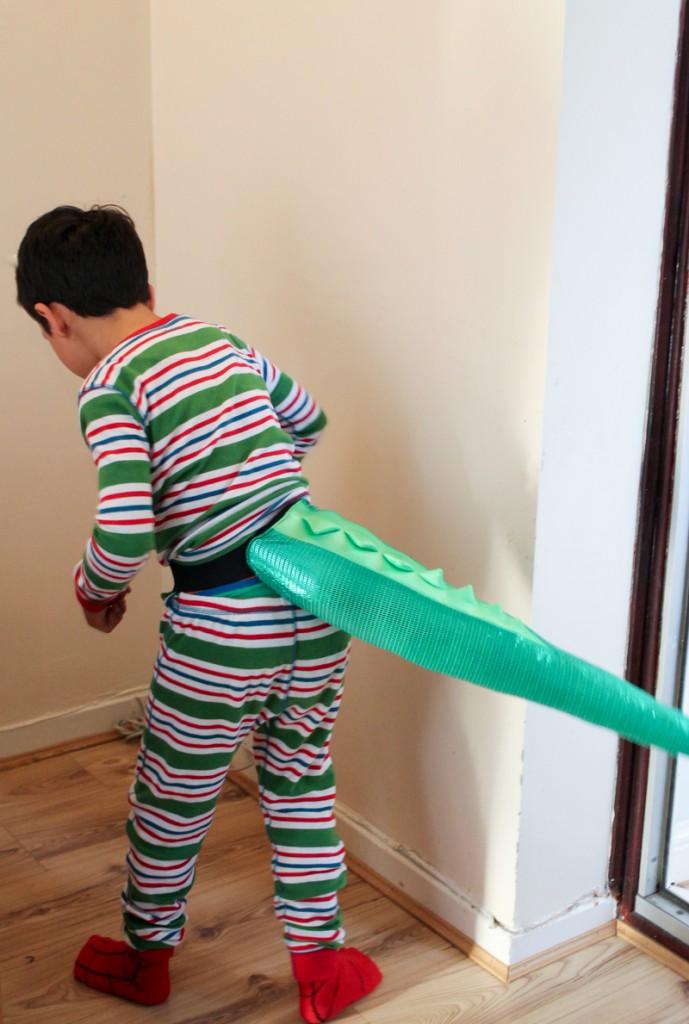 TellTails shinosaur tail for a dinosaur costume