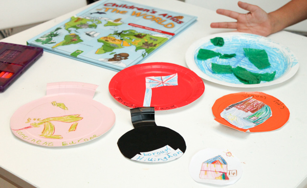 paper plate designs for My World paper plate craft