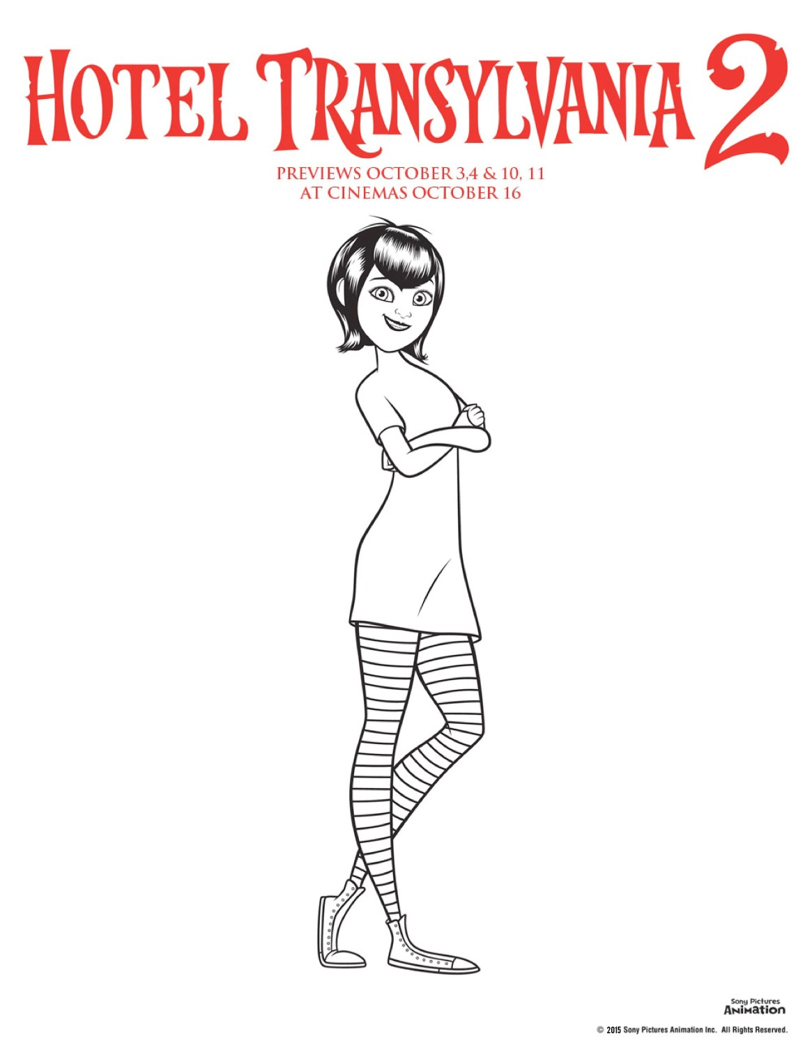 Hotel transylvania 2 colouring pages mavis colouring sheet, perfect for Halloween