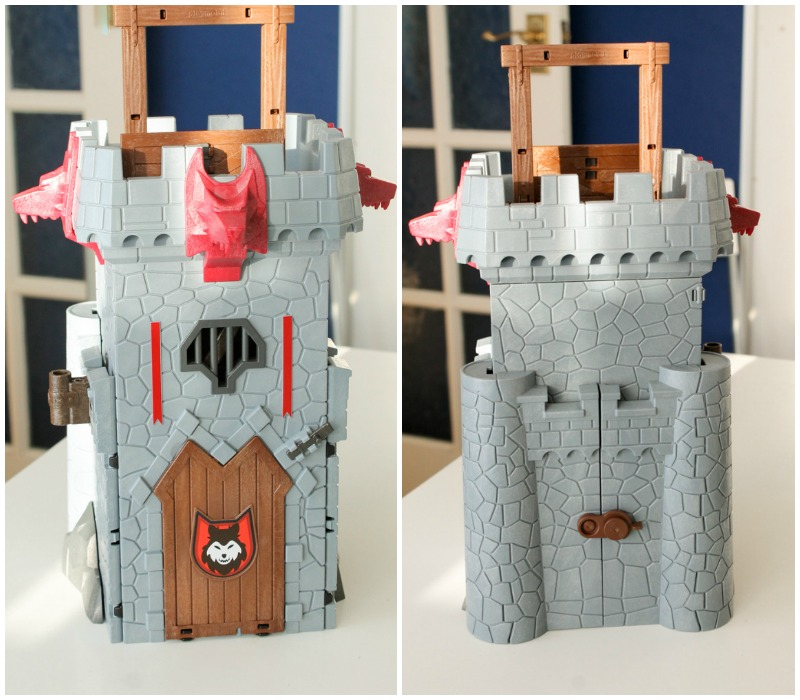 folded up Super 4 Take Along Black Baron's Castle