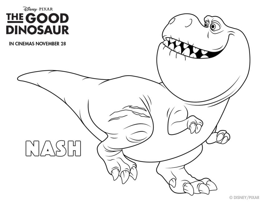 The Good Dinosaur Nash Colouring page