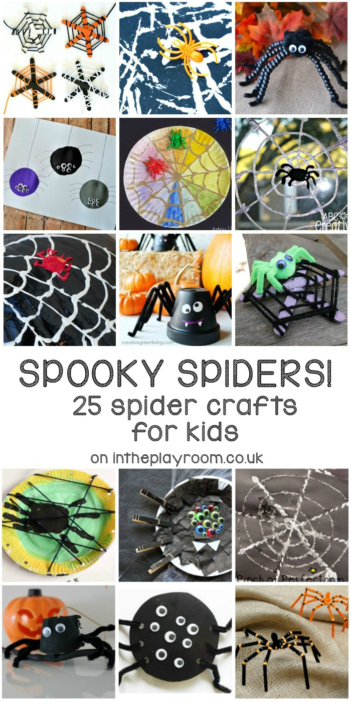 25 spooky spider crafts for kids this halloween. These are fun, and not too scary!