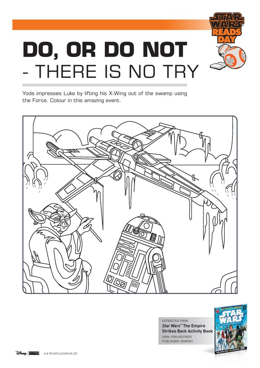 Star Wars Yoda and Luke colouring page