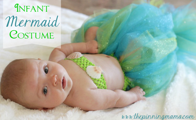 Baby mermaid halloween costume from the pinning mama