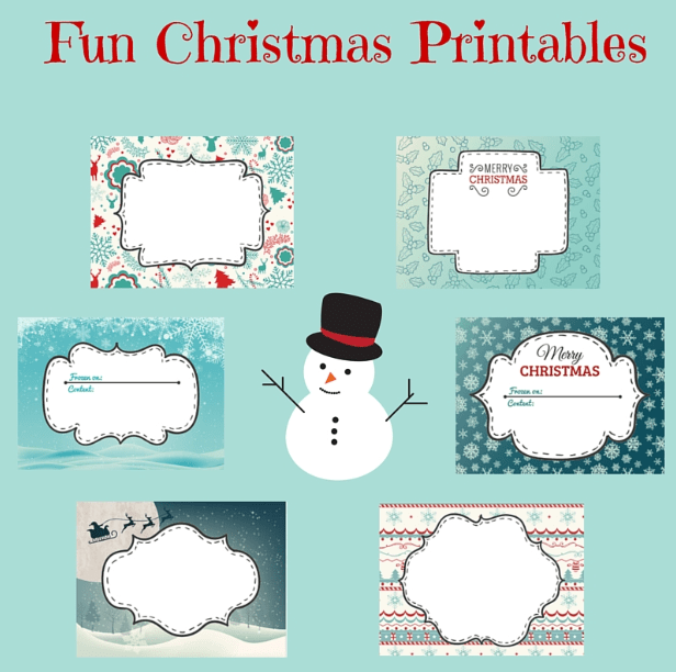 Fun Christmas Printable labels